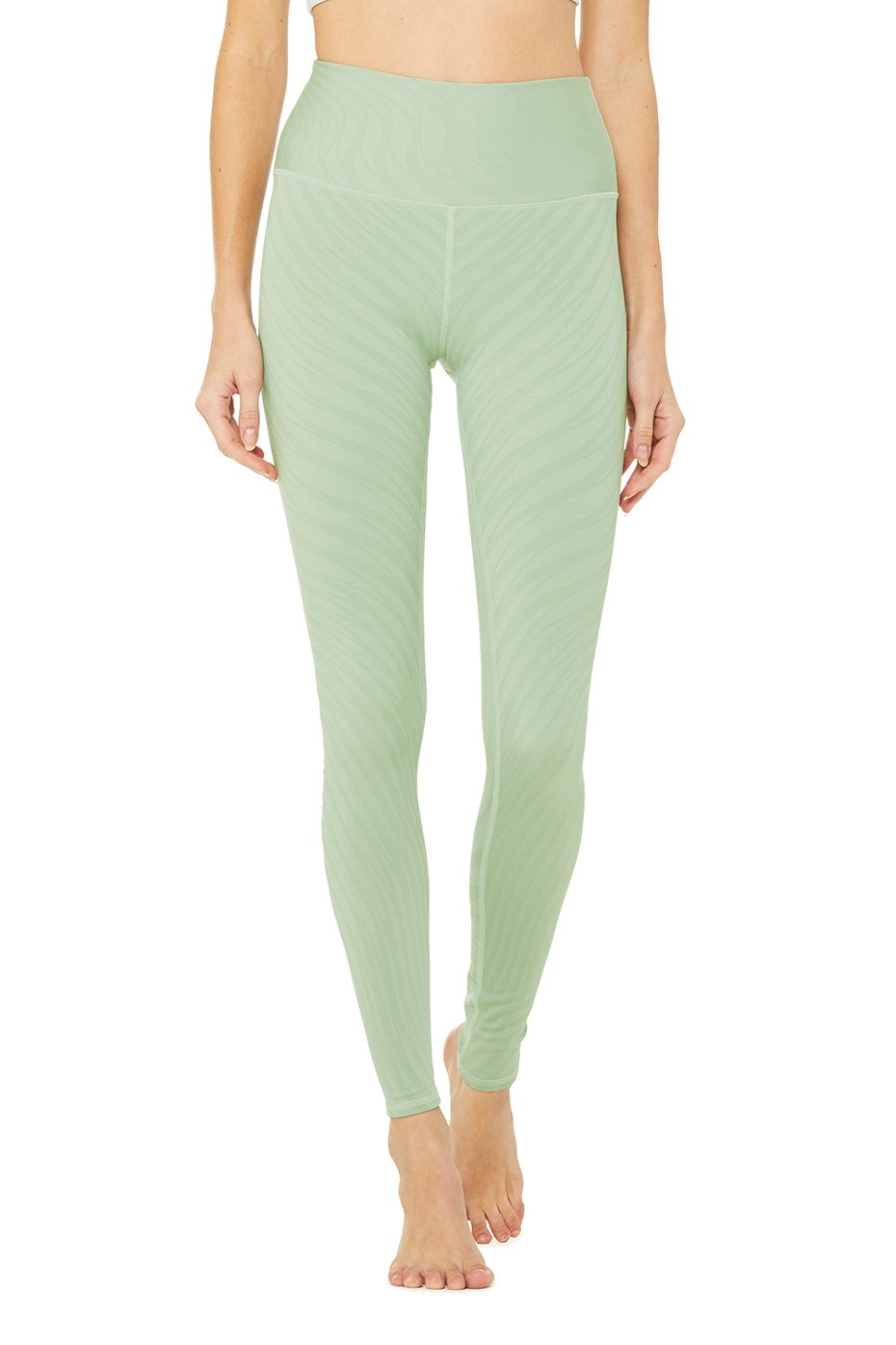 Alo Yoga High-Waist Airbrush Legging - Pistachio Waves