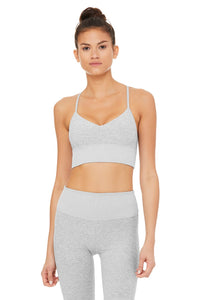 Alo Yoga SMALL Alosoft Lush Bra - Zinc Heather