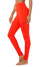Load image into Gallery viewer, Alo Yoga SMALL High-Waist Moto Legging - Cherry