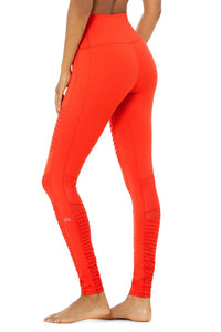 Alo Yoga SMALL High-Waist Moto Legging - Cherry