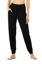 Load image into Gallery viewer, Alo Yoga SMALL Soho Sweatpant - Black