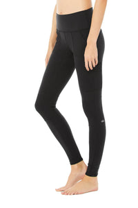 Alo Yoga SMALL High-Waist Cargo Legging - Black