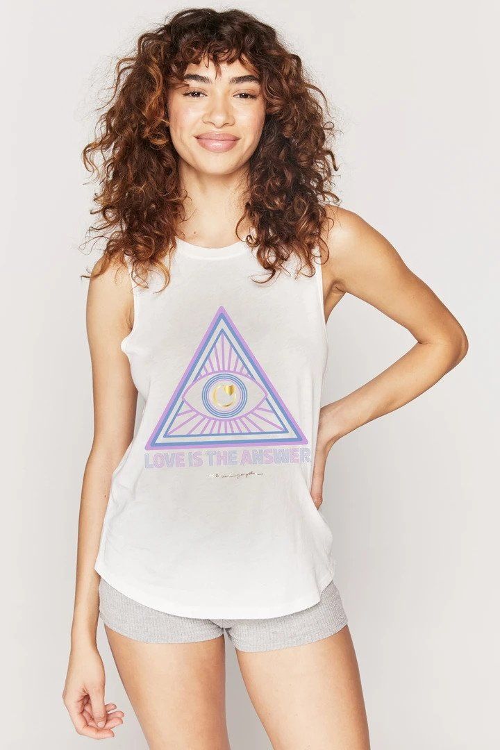 Spiritual Gangster XS Love Is The Answer Muscle Tank - Stone