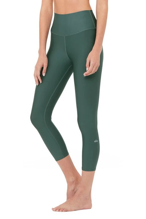 Alo Yoga SMALL High-Waist Airlift Capri - Seagrass