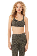 Load image into Gallery viewer, Alo Yoga SMALL Vapor Leopard Bra - Olive Branch
