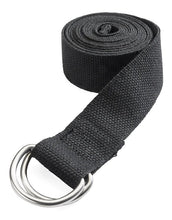 Load image into Gallery viewer, Jade Yoga Strap 8 Feet - Black