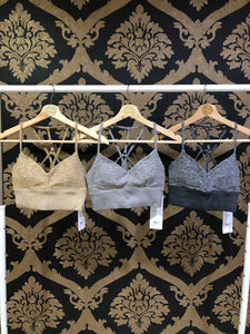 Alo Yoga XS Alosoft Lavish Bra - Dove Grey Heather/ Dark Heather Grey