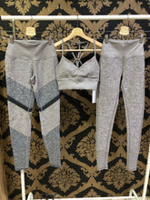 Load image into Gallery viewer, Alo Yoga SMALL High-Waist Alosoft Sheila Legging - Gravel Heather/Dove Grey Heather/Dark Heather Grey