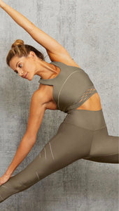 Alo Yoga MEDIUM Sequence Bra- Olive Branch