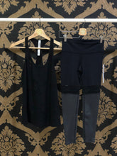 Load image into Gallery viewer, Alo Yoga SMALL 7/8 Player Legging - Black/Charcoal Heather