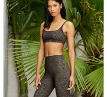Load image into Gallery viewer, Alo Yoga XS High-Waist Vapor Leopard Legging - Olive Branch