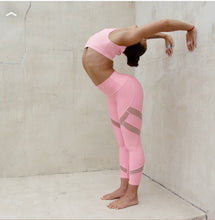 Load image into Gallery viewer, Alo Yoga XXS High-Waist Mesmerize Capri - Macaron Pink