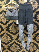 Load image into Gallery viewer, Alo Yoga SMALL High-Waist Alosoft Goddess Legging - Dark Heather Grey/Dove Grey Heather
