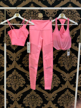 Load image into Gallery viewer, Alo Yoga XS High-Waist Moto Legging - Macaron Pink Glossy