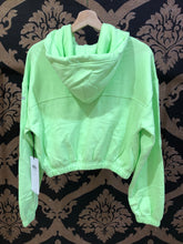 Load image into Gallery viewer, Alo Yoga XS Stadium Half Zip Hoodie - Neon Lime