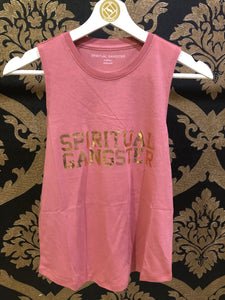 Spiritual Gangster XS Sgv Muscle Tank - Dried Rose