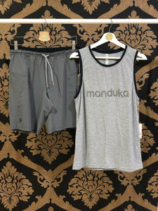 Manduka Men's Organic Tank - Heather Grey