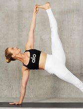 Load image into Gallery viewer, Alo Yoga XXS High-Waist Moto Legging - White Glossy