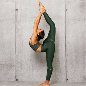 Alo Yoga SMALL 7/8 High-Waist Airlift Legging - Forest