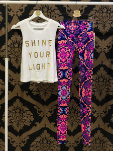 Spiritual Gangster SMALL Shine Your Light Crop Tank - Stone