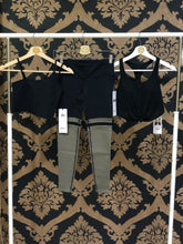 Load image into Gallery viewer, Alo Yoga SMALL 7/8 Player Legging - Black/Olive Branch