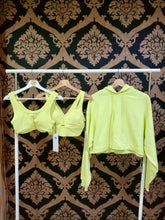 Load image into Gallery viewer, Alo Yoga XS United Long Bra - Shock Yellow