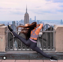 Load image into Gallery viewer, Alo Yoga SMALL High-Waist Fitness Legging - Anthracite/Lavender Smoke