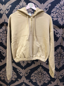 Alo Yoga XS Stadium Half Zip Hoodie - Honey