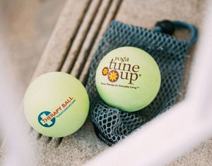 Yoga Tune Up Therapy Ball Pair in Tote - Green