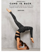 Load image into Gallery viewer, Alo Yoga XS High-Waist Camo Vapor Legging - Black Camouflage