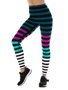 K-Deer XS High-Waist 7/8 Sneaker Length - Candice Stripe