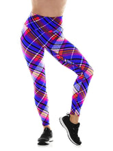 Load image into Gallery viewer, K-Deer SMALL Textured Plaid 7/8 Sneaker Length Legging - Flex