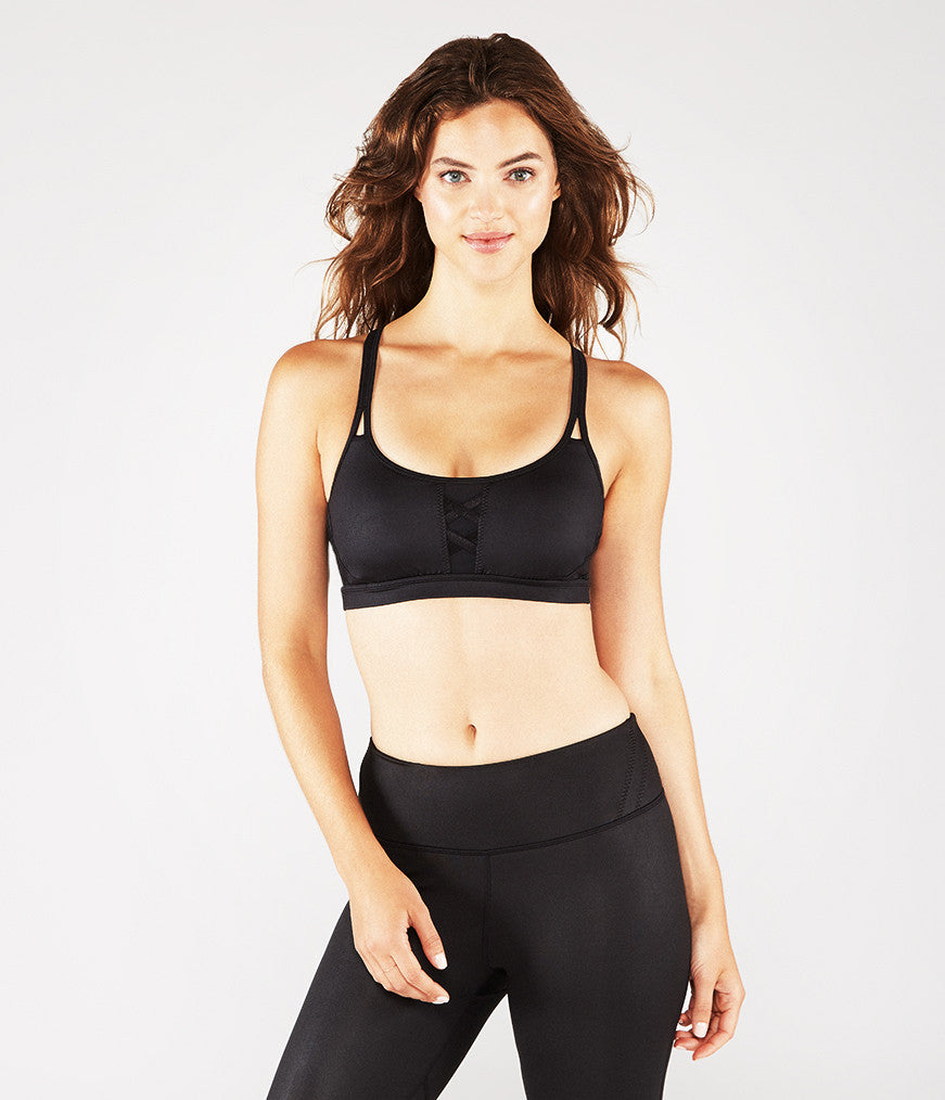 Manduka SMALL Corset Bra - Black Sheen