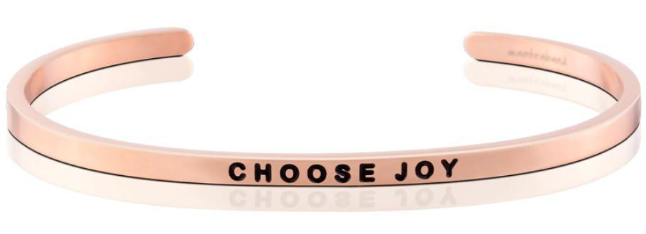 MantraBand Bracelet Rose Gold - Choose Joy