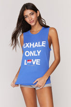 Load image into Gallery viewer, Spiritual Gangster XS Exhale Muscle Tank - Bluebell