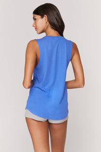 Spiritual Gangster XS Exhale Muscle Tank - Bluebell