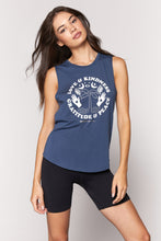 Load image into Gallery viewer, Spiritual Gangster XS Peace Muscle Tank - Faded Navy