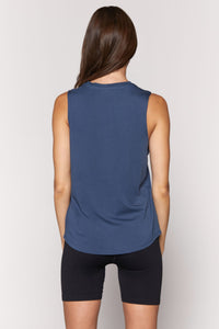 Spiritual Gangster XS Peace Muscle Tank - Faded Navy