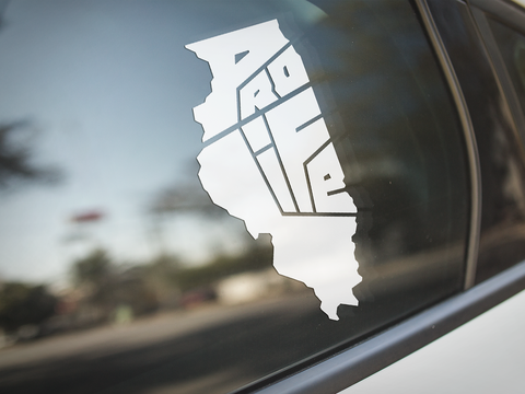 Illinois Pro-Life State Window Sticker