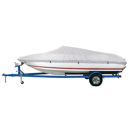 "Dallas Manufacturing Co. Polyester Boat Cover B - 14-16 V-Hull, Runaboats  Alum. Bass Boats - Beam to 90"" [BC1301B]"