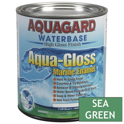 Aquagard Aqua Gloss Waterbased Enamel - 1Qt - Sea Green [80017]
