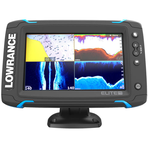 Lowrance Elite-7 Ti Touch Combo w-TotalScan Transom Mount Transducer & Navionics+ Chart [000-12721-001]