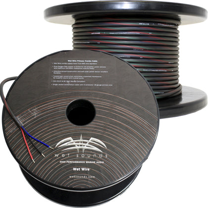 Wet Sounds 3 Conductor 18 Gauge Primary Wire - Power Ground & Remote Wire - 150' Spool [WW-3 PIM -150]