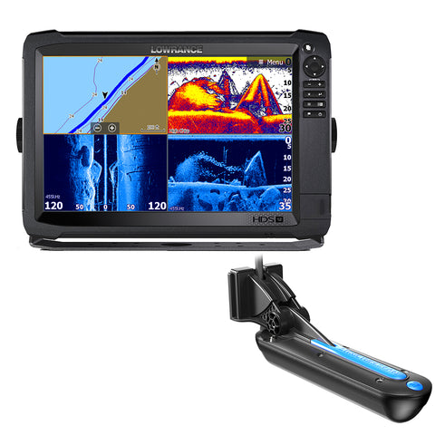Lowrance HDS-12 Carbon 3D Bundle with 3D Transom Mount Transducer and C-Map Insight Chart [000-13686-002]