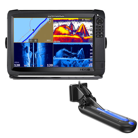 Lowrance HDS-12 Carbon with C-Map Insight Chart and TotalScan Transom Mount Transducer [000-13689-001]