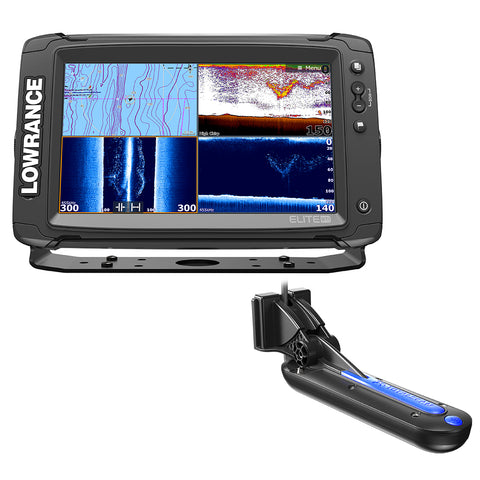 Lowrance Elite-9 Ti Chartplotter-fishfinder with Totalscan Transom Mount Transducer [000-13274-001]