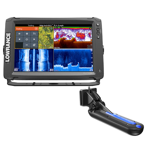 Lowrance Elite-12 Ti with TotalScan Transom Mount Transducer and Insight Pro by C-map Chart [000-13718-005]