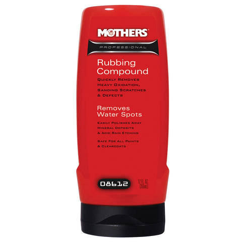 Mothers Professional Rubbing Compound - 12oz - *Case of 6* [08612CASE]
