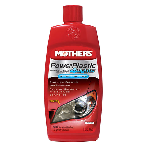 Mothers PowerPlastic 4Lights Plastic Polish -8oz - *Case of 6* [08808CASE]