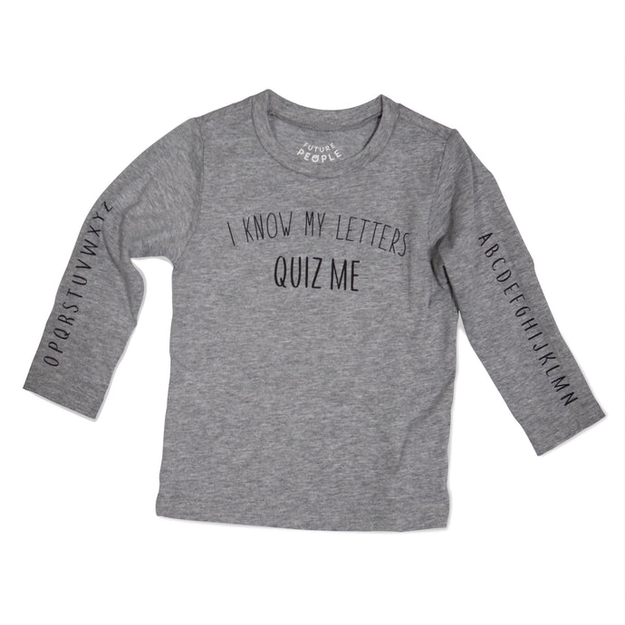 Letters Long Sleeve Tee